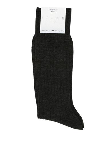 Falke Falke 101478130 Ribli Erkek Kaşmir Çorap Gri